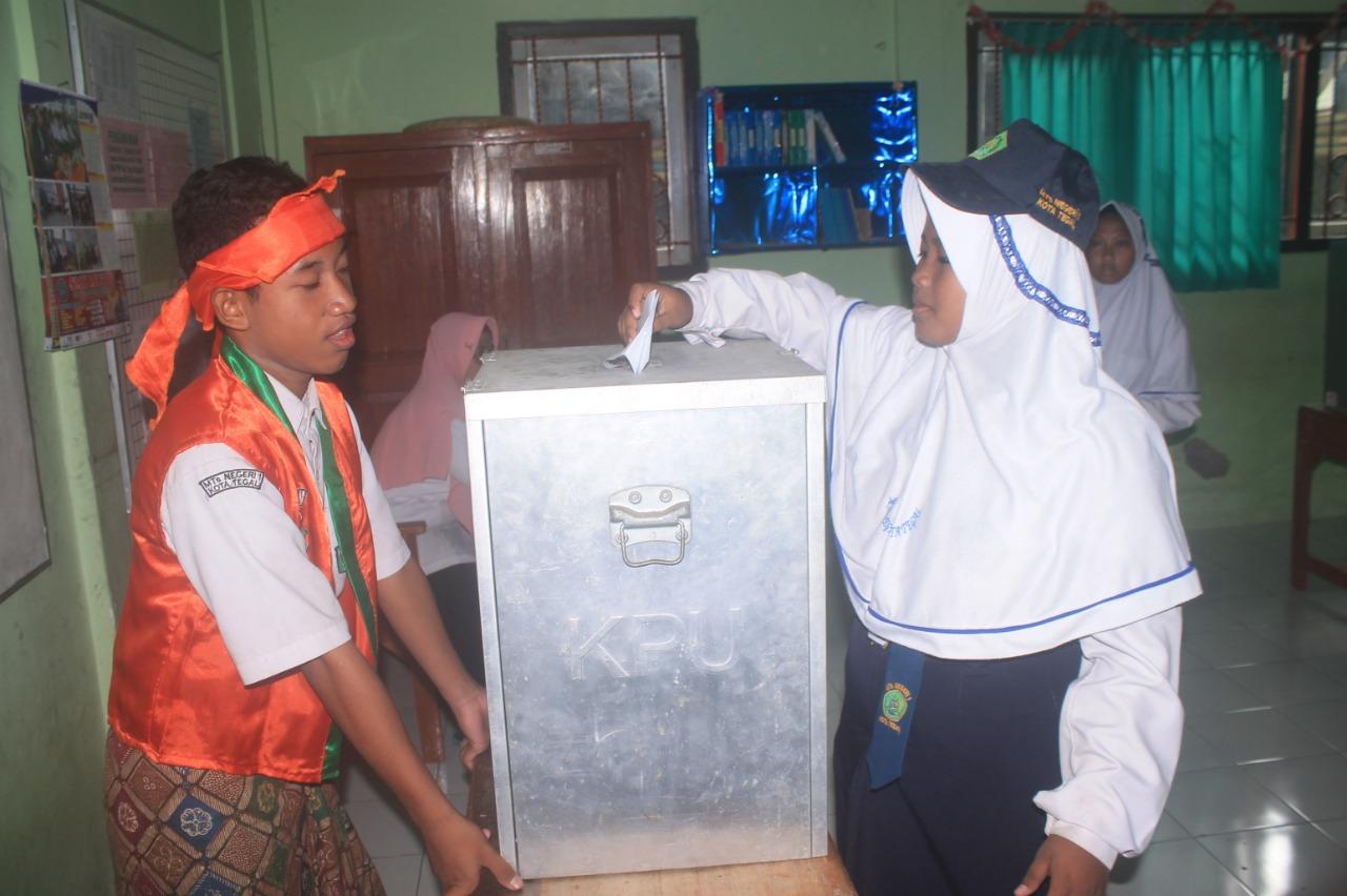 Pemilihan Ketua Osis Mtsn Kota Tegal Dihelat Mirip Pemilu