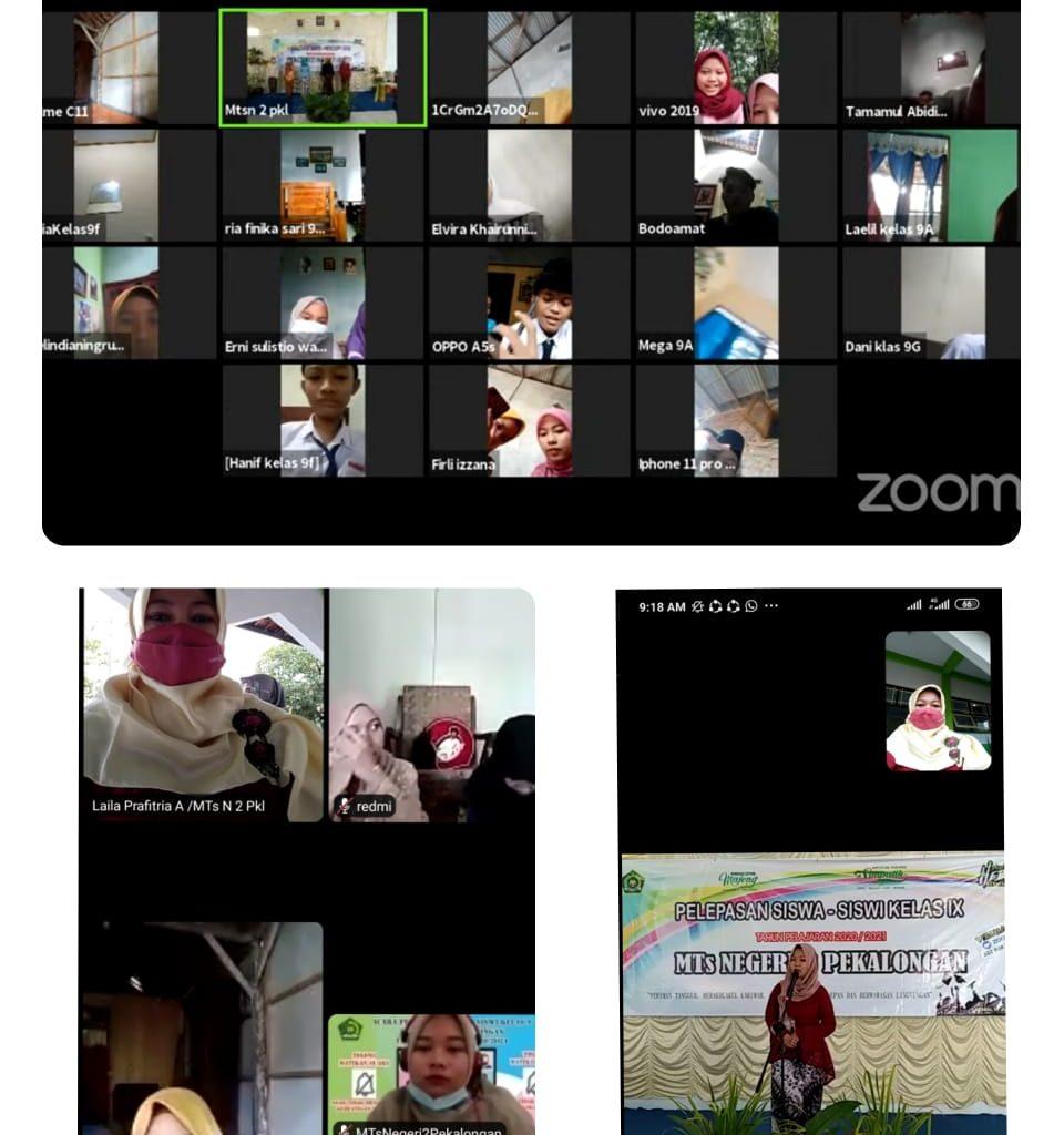 Pelepasan Siswa Siswi Kelas 9 MTs N 2 Secara Virtual