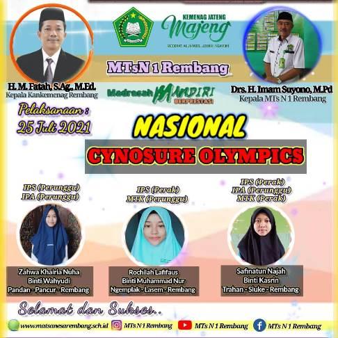 MTsN 1 Rembang Borong Medali Lomba Cynosure Olympics