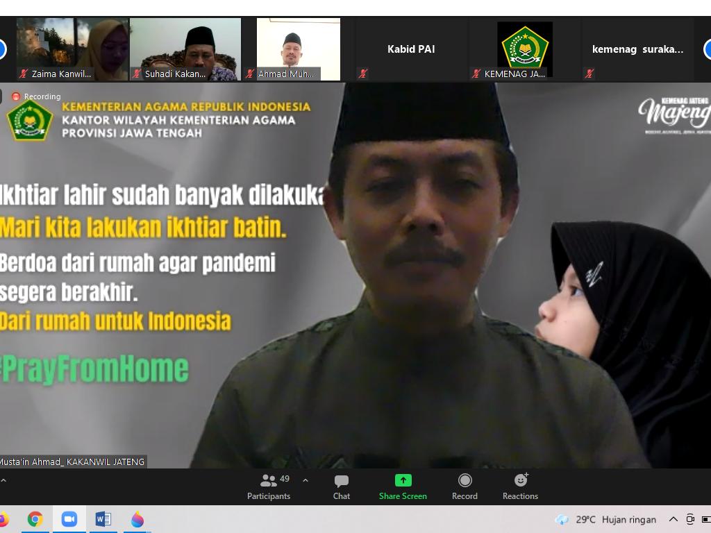 Rapat Koordinasi Internal Persiapan Pray From Home pada Sabtu (10/07).