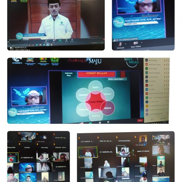Siswa MTs N 2 Pekalongan Ikuti Webinar Literasi Digital