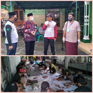 Kepala Kankemenag Kota Magelang Tinjau Langsung Prokes Penyembelihan Hewan Qurban Di Masjid Baitunnur