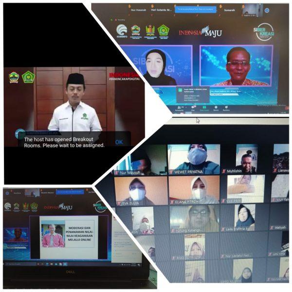 MTs N 2 Pekalongan Ikut serta Dalam Webinar Gerakan Nasional literasi Digital dan Siberkreasi