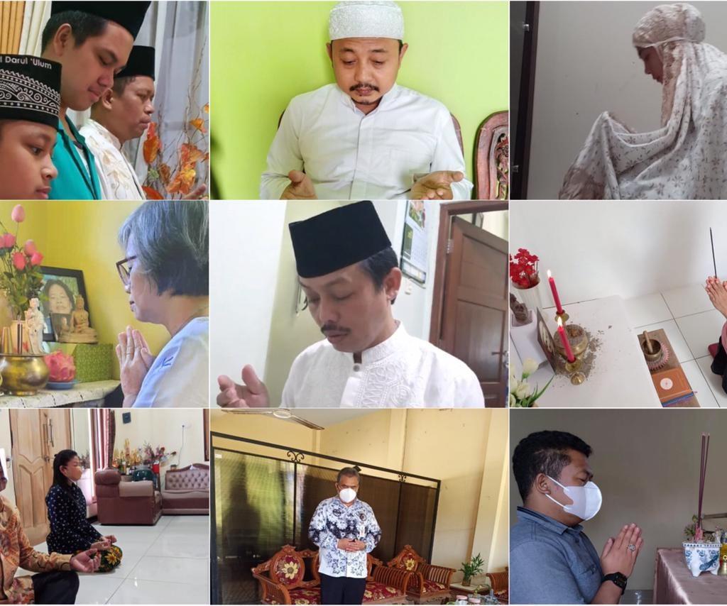 Jajaran Kanwil Kemenag Prov. Jateng Langitkan Doa dan laksanakan Hening Cipta Indonesia dari rumah masing-masing (10/7))