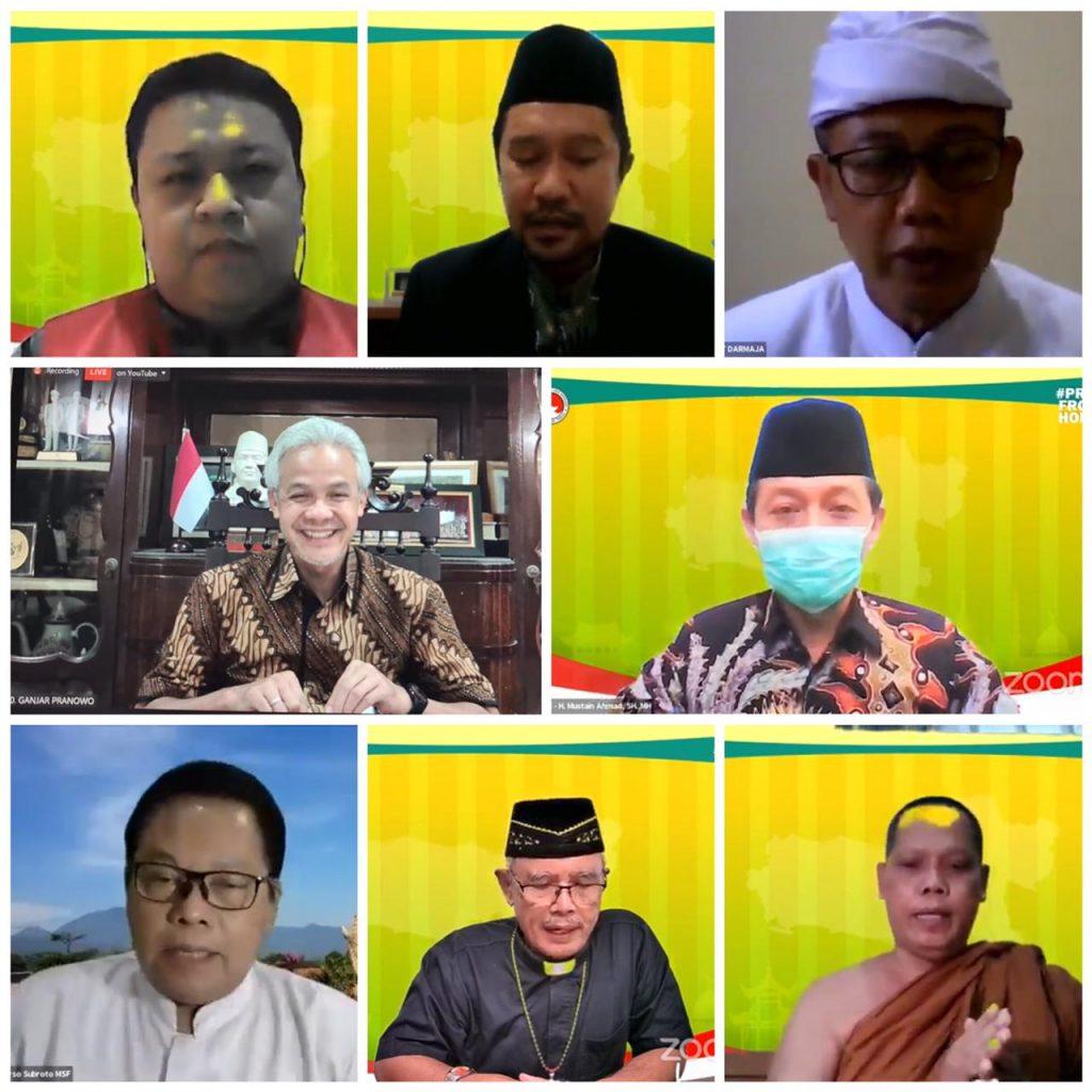 Doa Bersama Lintas Agama secara daring pada Rabu (14/07).