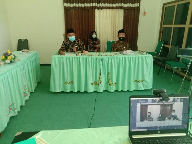 KaKankemenag dan KaSubbag TU Kemenag Kab. Pati bertindak sebagai nara sumber pada Rakor Virtual ASN Jajaran Kemenag Kab. Pati.