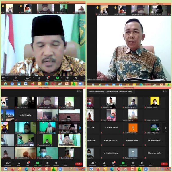 Rapat Kegiatan Duta Prokes Penyuluh Agama Islam Secara Virtual