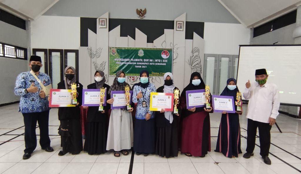 Para Juara MTQ tingkat Kecamatan Gunungpati Ko.Smg