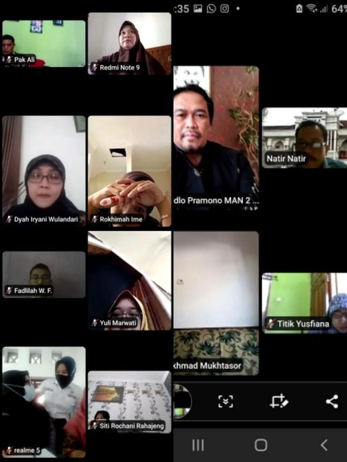 Rapat Pembagian Tugas Secara Virtual MAN 2 Banjarnegara