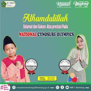 MIN 1 Rembang raih 2 Medali Lomba National Cynosure Olympics
