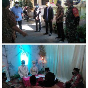 Satgas Covid 19 Kecamatan Magelang Selatan Pantau Pelaksanan Hajatan Nikah