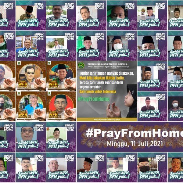 Kemenag Gelorakan Pray From Home
