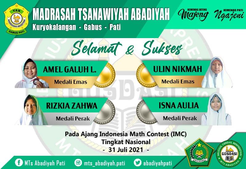 MTs Abadiyah Pati Raih Medali Emas Pada Kontes IMC Nasional