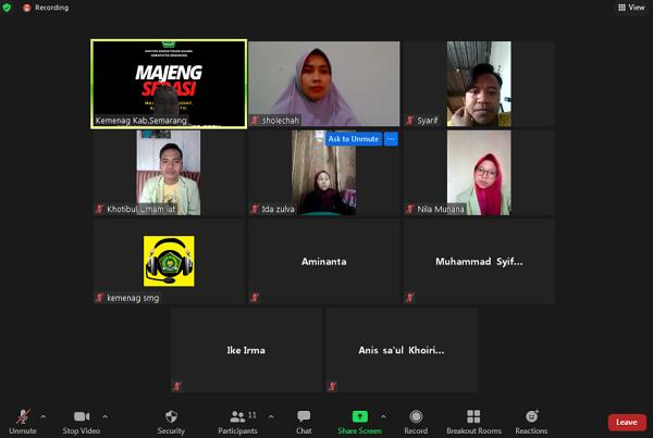 Zoom Meeting Dengan Mahasiswa PPL di Kankemenag Kab.Semarang