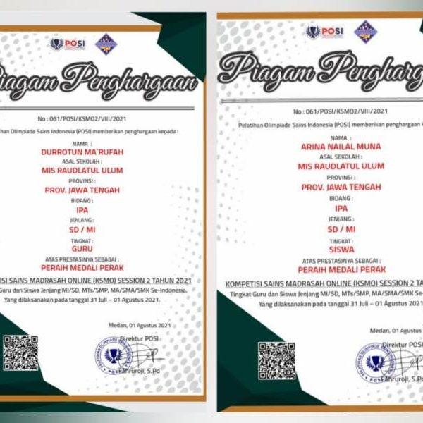PPKM Diperpanjang; Guru dan Siswa MI Raudlatul Ulum Pati Tetap Berprestasi Tingkat Nasional