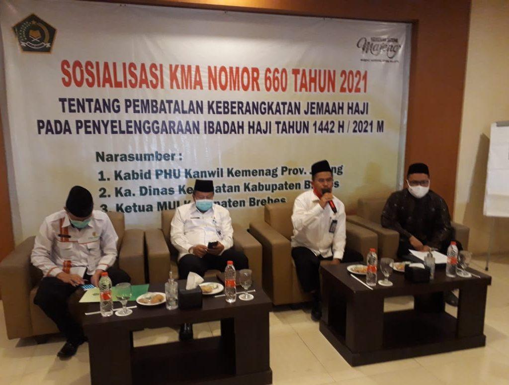 Sosilaisasi KMA 660 Tahun 2021 Tentang Pembatalan Keberangkatan Haji Tahun 2021