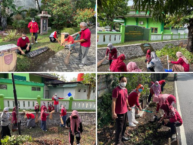 Kegiatan World Cleanup Day yang dilaksanakan oleh ASN Kankemenag Kab. Boyolali