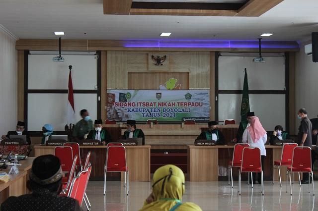 Kegiatan Itsbat Nikah terpadu yang diselenggarakan Pemerintah Daerah Boyolali