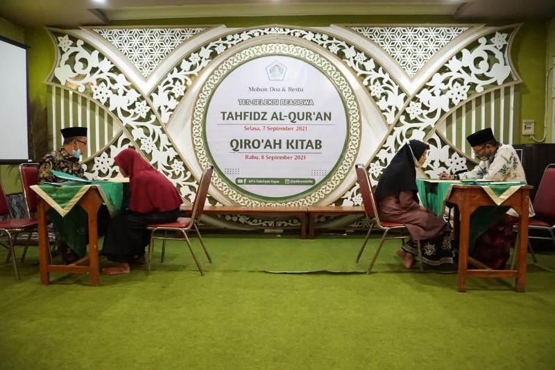 Awal PTM, MTs Salafiyah Pati Gelar Ujian Beasiswa Tahfidz