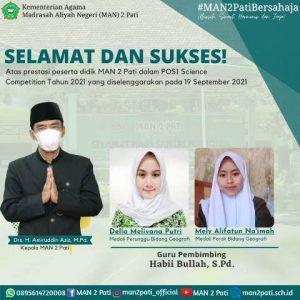 Lagi, Dua Peserta Didik MAN 2 Pati Harumkan Madrasah
