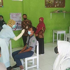 Hasil Rapid Test Antigen Siswa Negatif, MTs Nurul Huda Siap Laksanakan PTM