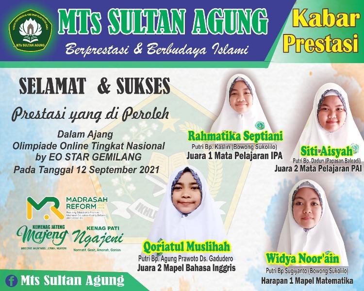 Siswa MTs Sultan Agung Pati Kembali Raih Prestasi Tingkat Nasional