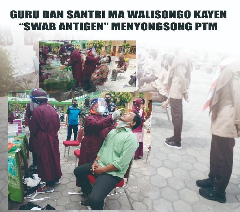 Songsong PTM, Guru dan Santri MA Walisongo Pati Lakukan Tes Rapid