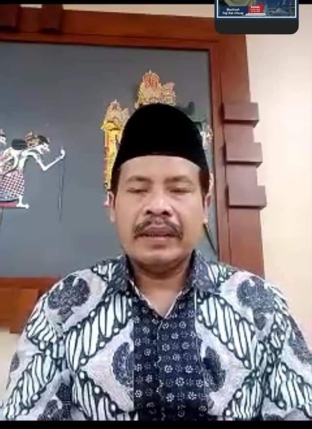 Ka Kankemenag Cilacap, Imam Tobroni melauncing layanan SiCepot secara virtual melalui zoom meeting