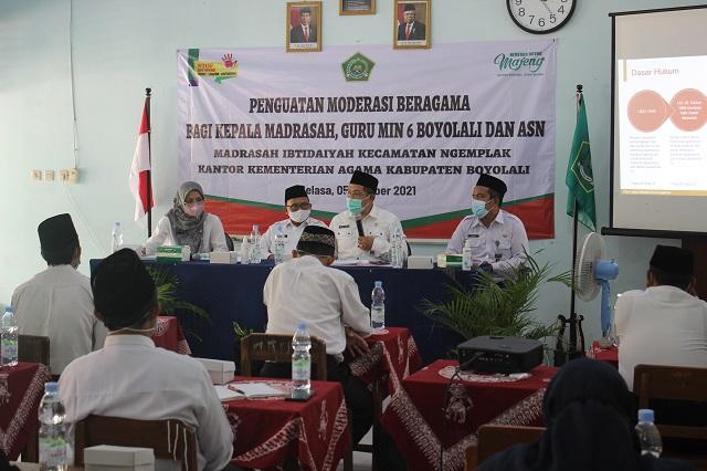 Kegiatan Penguatan Moderasi Beragama yang dilaksanakan oleh MIN 6 Boyolali