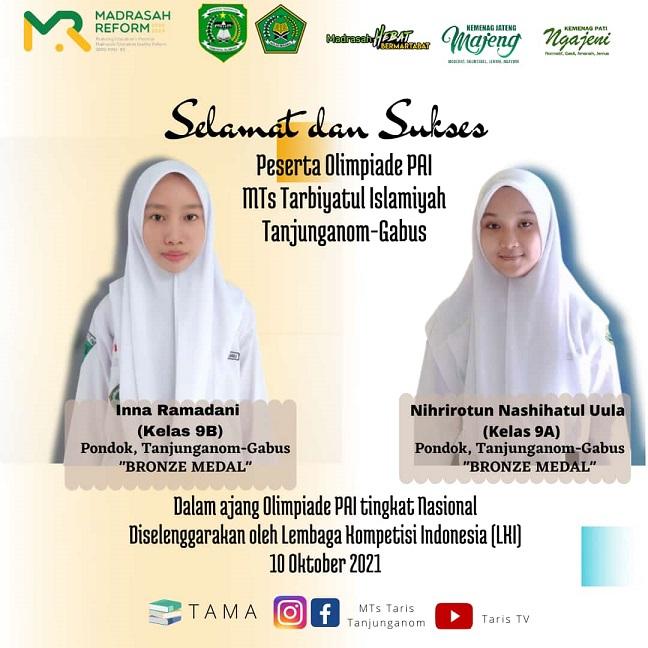 Dua Siswi MTs Tarbiyatul Islamiyah Pati Raih Prestasi Tingkat Nasional
