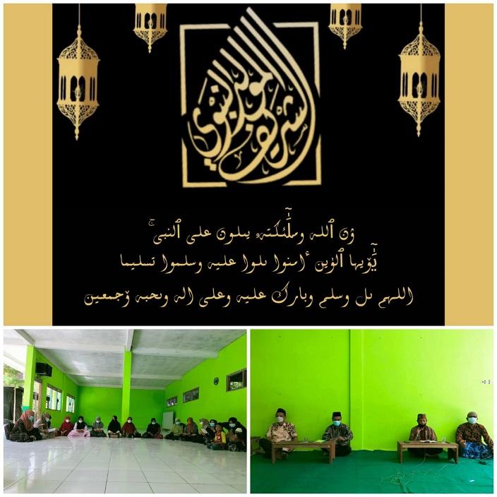 MTs Dan MI TARIS Pati Rayakan Maulid Nabi Muhammad SAW Secara Virtual