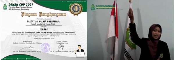 Siswi MA Madarijul Huda Torehkan Prestasi Tingkat Nasional