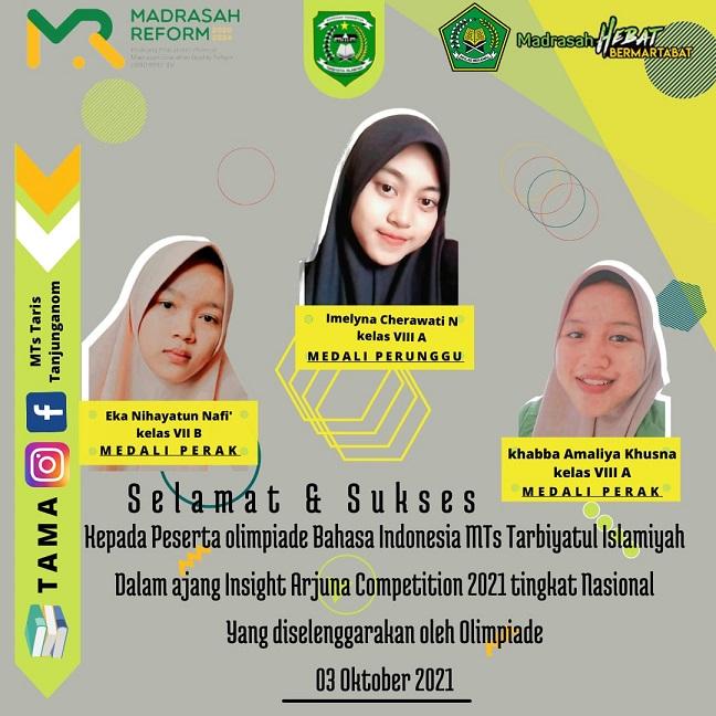 Tiga Siswi MTs Tarbiyatul Islamiyah Pati Persembahkan Prestasi Tingkat Nasional